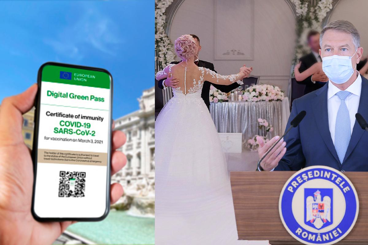 Guvernul doreste ca participarea la o nunta sau un botez sa se faca pe baza de Certificat Verde